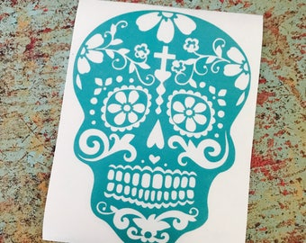 Day of the Dead Skull Decal (Choose your colors)
