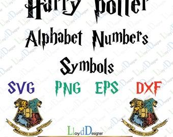 Harry Potter Font SVG Harry Potter Alphabet SVG Harry Potter Letters SVG Harry Potter svg png eps dxf cut files Print Silhouette Cricut