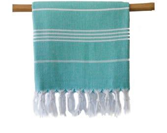 Iris Turquoise Turkish Towel Peshtemal