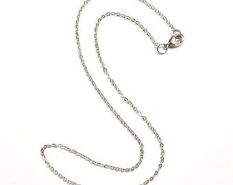 2 Cable 13 Inch Chain, Necklace Chain, Silver Chain, Jewelry Supply, Craft Supplies, Finished Chain, Choker