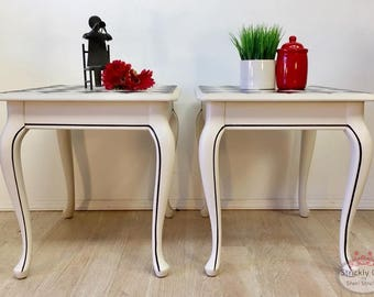 Matching Harlequin Side Tables / End Tables