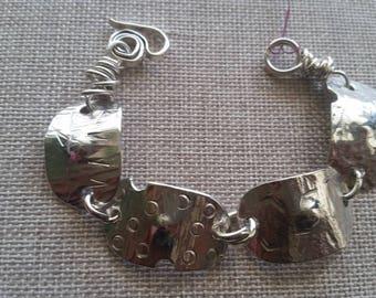 Handmade sterling silver link braceletII