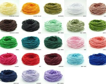 2MM Chinese Knot Nylon Cord Shamballa Macrame Beading Kumihimo String 20 Yards Skein - Pick Your Color!