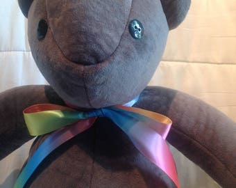 "18"" Gray Teddy Bear"