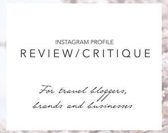 Instagram Profile Critique (Travel Influencers, Brands & Businesses), Instagram Expert, Review, Marketing, Branding, Theme