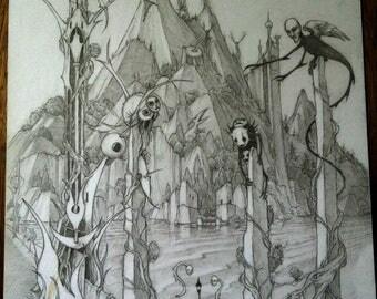 Isle of the Restless- Fantasy Illustration