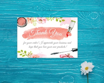 LipSense Thank You Card, Lip Sense Thank Card, SenegGence Thank Card, Lipsense Marketing, Printable Digital LSS07