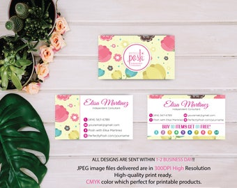 Perfectly Posh Business Cards, Posh Markeitng, Perfectly Posh Buy 10 get 1 free, Printable Digital Printed, Personalized Cards PO02