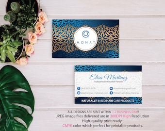 PERSONALIZED Monat Business Card Custom, Custom Monat Business Card, Fast Free Personalization, Custom Monat Hair Care Card, Printable MN21