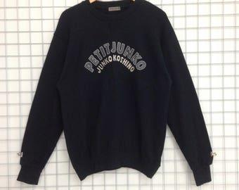 Vintage Junko Koshino Sweatshirts Big Logo Embroidery Nice Design