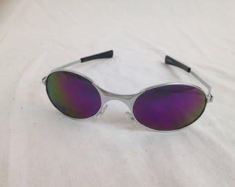 90's purple spy sunglasses