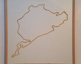 Wall Art - Nürburgring - Track Engraving