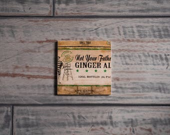 Small Town Brewery Not Your Father's Ginger Ale Handmade Craft Beer Coaster