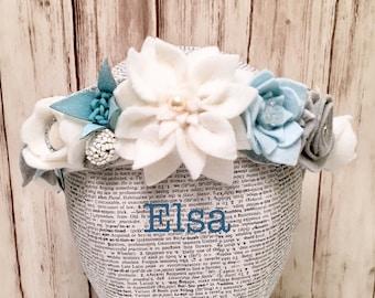 Elsa Winter Crown l Snowflake Headband l Frozen Birthday l Elsa Costume l Winter Flowe l Snowflake Costume l Winter Wreath l Snow Princess