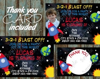 Space Invitation, Space Party, Space Birthday, Space Printable Invitation, Outer Space birthday party Invitation, Printable Space invitation