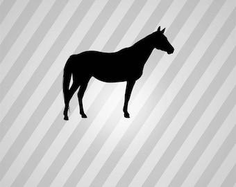 quarter horse Silhouette - Svg Dxf Eps Silhouette Rld RDWorks Pdf Png AI Files Digital Cut Vector File Svg File Cricut Laser Cut