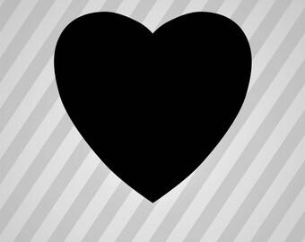 Heart Silhouette Hearts - Svg Dxf Eps Silhouette Rld RDWorks Pdf Png AI Files Digital Cut Vector File Svg File Cricut Laser Cut
