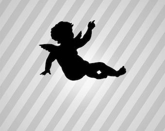 cherub Silhouette - Svg Dxf Eps Silhouette Rld RDWorks Pdf Png AI Files Digital Cut Vector File Svg File Cricut Laser Cut
