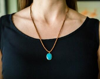 Aromatherapy Sandalwood Gemstone Necklace