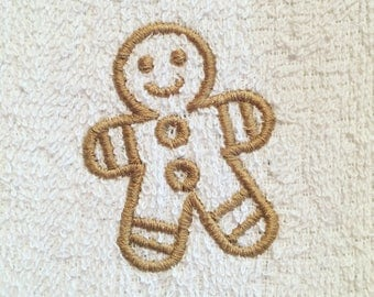Gingerbread Man Wash Cloth Flannel