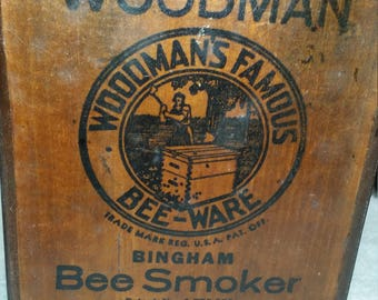 a very nice old bee smoker