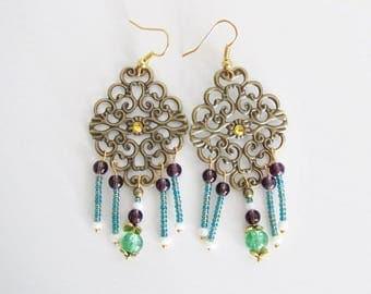 Baroque earrings Oriental fantasies