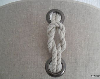 Applique wall GM linen rope and metal eyelet
