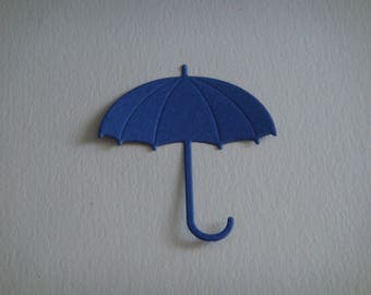 Cut Navy Blue umbrella for scrapbooking and card
