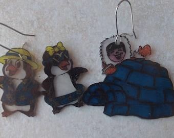 igloo Penguin earrings