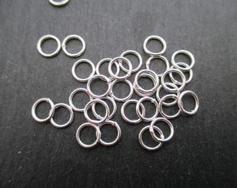 Rings closed 6 mm Silver 925 * 1 set of 5
