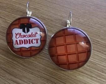 """""""chocolate addict"""" earrings"""
