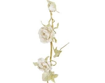 Garland, flowers, fabric, white, wedding