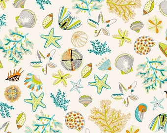 fabric, 170cm L, shells, beach, Thévenon