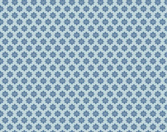 Fabric coupon 50/35 cm, TILDA, blue starflowers. patchwork, 480269C