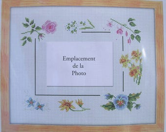 KIT has POINTS accounts to EMBROIDER: the floral frame