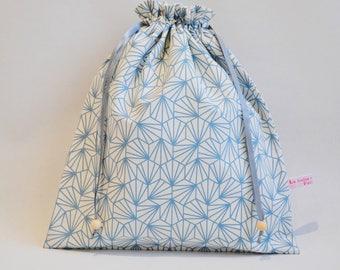 Blue and white - large DrawString lingerie bag - lingerie bag range socks
