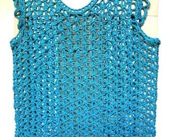Blue cotton summer top