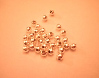 25 4 mm silver metal spacer beads