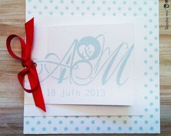 COUNTRY wedding invitation and a Red Ribbon