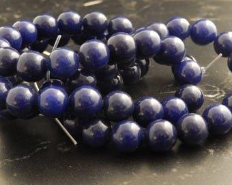 10 beads 10mm purple Jade ref 257