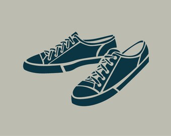 Adhesive vinyl stencil. Sneakers. Drawing sport shoes (ref 64)