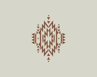 Indian stencil. Stencil ethnic pattern (ref 616)
