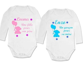 girl for her father twin Bodysuit set out for his mother