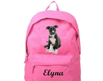 Backpack pink Staff personalized with name