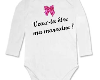 Onesie Message will you be my godmother