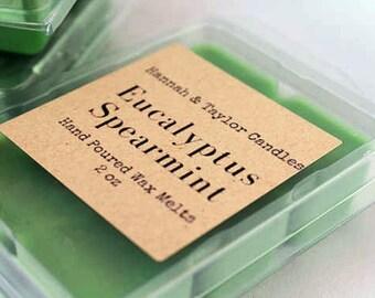 Eucalyptus Spearmint Handmade Wax Melt | Eucalyptus Spearmint Scented Wax Tart | Eucalyptus Spearmint | Eucalyptus Spearmint Soy Wax Melt