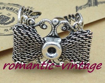 2 antique silver rings support style medieval filigree Adjustable ring