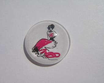 Cabochon 20 mm with a pattern woman