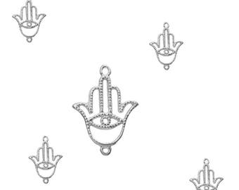 Spacer sterling silver Hamsa hand