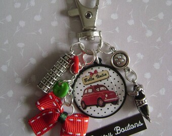 "Keychain or bag charm ""Italy"""